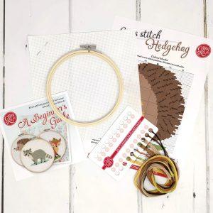 Crafty Kit Company – Hedgehog Cross Stitch Kit