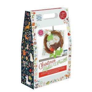 Crafty Kit Company – Christmas Robin Wreath Needle Felting Kit