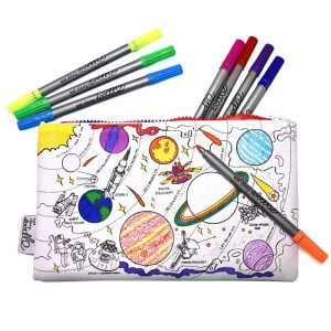Eat Sleep Doodle Space Colour In Pencil Case and Pens