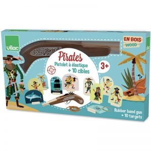 Vilac Pirates Wooden Rubber Band Gun