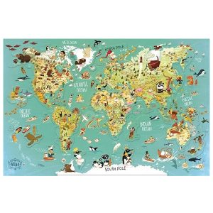 Vilac Magnetic World Map Puzzle