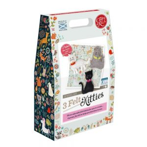 Crafty Kit Company – Three Felt Kitties Sewing Kit