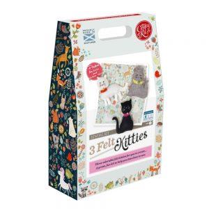 Crafty Kit Company – Three Felt Kitties Sewing Kit