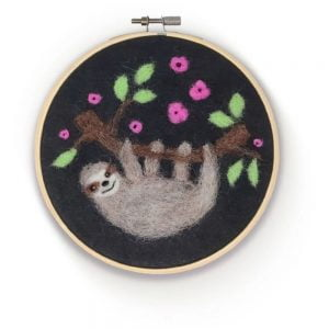 Crafty Kit Company – Sloth in a Hoop Needle Felting Kit