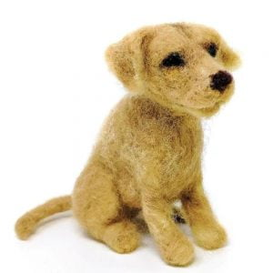 Crafty Kit Company – Yellow Labrador Needle Felting Kit