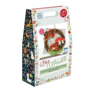 Crafty Kit Company – Autumn Fox Wreath Needle Felting Kit