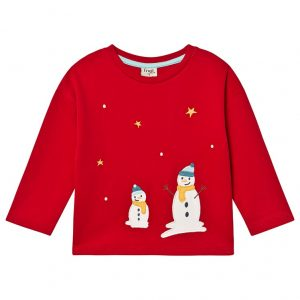 Frugi Snowmen Long Sleeved Top