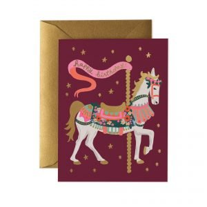 Rifle Paper Co Carousel Birthday Card