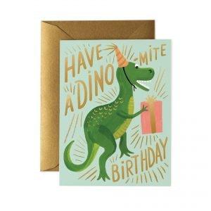 Rifle Paper Co Dinomite Birthday Card