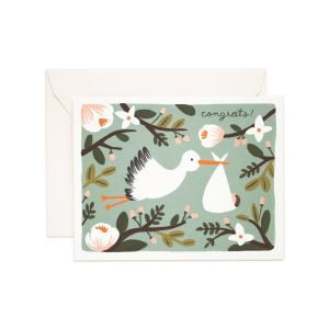 Rifle Paper Co Stork New Baby Card