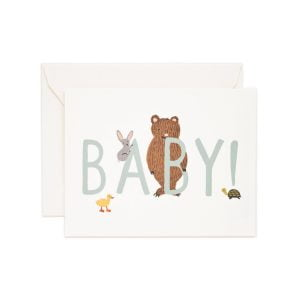 Rifle Paper Co New Baby! Mint Card