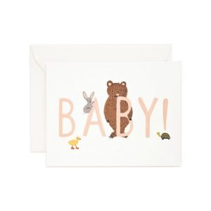 Rifle Paper Co New Baby! Peach Card