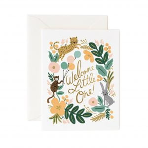 Rifle Paper Co Menagerie New Baby Card