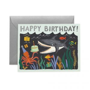 Rifle Paper Co Shark Birthday Card