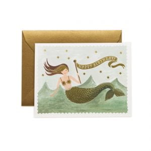 Rifle Paper Co Vintage Mermaid Birthday Card