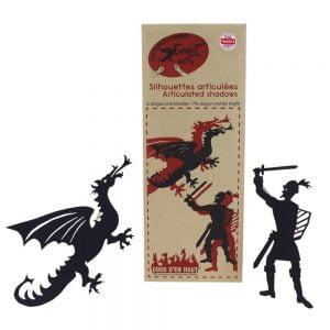 Articulated Shadow Puppets – Dragon and Knight