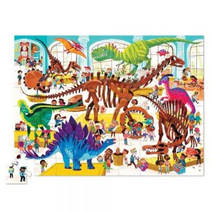 Crocodile Creek Day At The Dinosaur Museum 48pc Puzzle