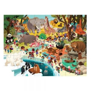 Crocodile Creek Day At The Zoo 48pc Puzzle