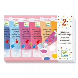 Djeco Finger Painting 6 Tubes – Sweet