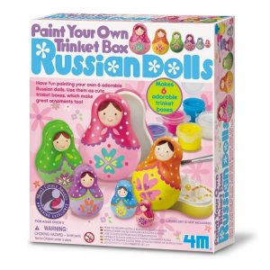 4M Paint Your Own Russian Doll Trinket Box Set