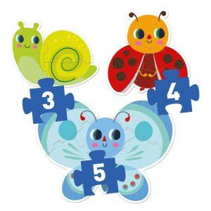 Djeco In The Garden Progressive 3, 4, 5pc Puzzle