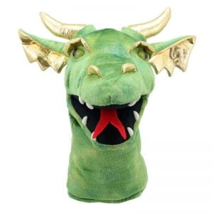 The Puppet Company Large Green Dragon Head Puppet