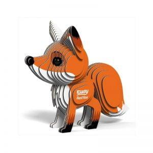Eugy Red Fox 3D Craft Kit