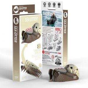 Eugy Sea Otter 3D Craft Kit