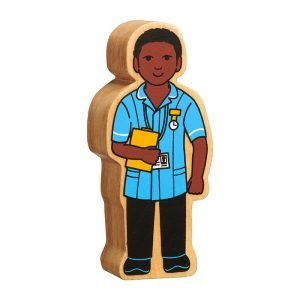Lanka Kade Wooden People Who Help Us – Nurse – Black Skin