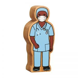 Lanka Kade Wooden People Who Help Us – Nurse In Scrubs