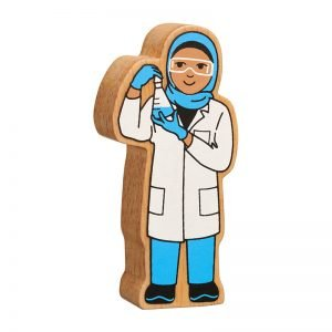 Lanka Kade Wooden People Who Help Us – Blue & White Scientist