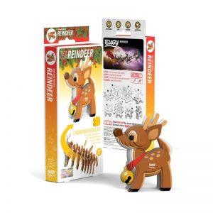 Eugy CHRISTMAS REINDEER 3D Craft Kit